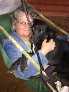 Deepa and Buchinchi relaxing in Hammock chair
